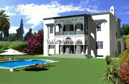 Terrain pour villa à Tanger 2000 m2 بقعة أرضية لبناء فيلا في حي راق