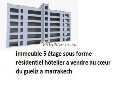 immeuble  hôtelier a vendre a gueliz marrakech